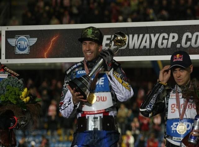 W październiku 2011 r., podczas pierwszego turnieju Grand Prix w Gorzowie, Greg Hancock odebrał złoty medal i puchar za mistrzostwo świata. W sobotę Amerykanin będzie bronił natomiast pozycji lidera cyklu.