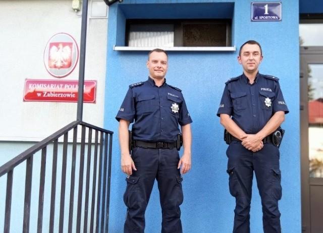 Funkcjonariusza z zabierzowskiego Komisariatu policji, którzy eskortowali samochód z rodzącą kobietą