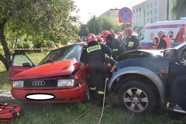 Śmiertelny wypadek w Siemiatyczach na skrzyżowaniu ul. Wysokiej i Andersa