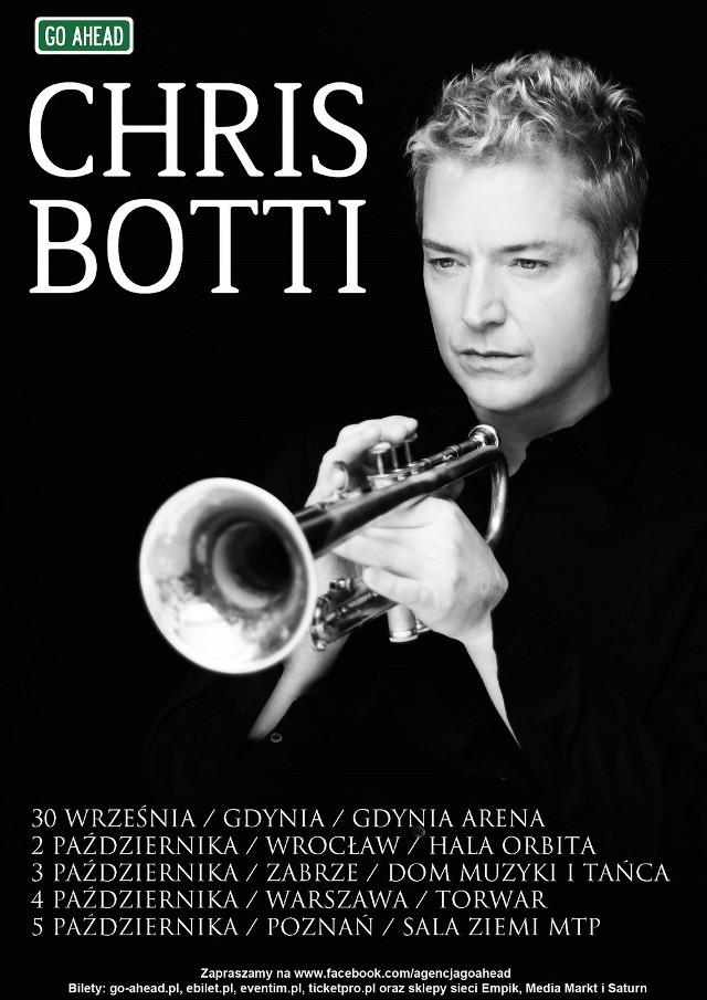 Plakat promujący jesienną trasę Bottiego po Polsce