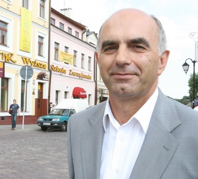 Krzysztof Kaszuba, rektor Wyższej Szkoły Zarządzania w Rzeszowie. Fot. Archiwum