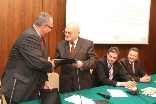 Uroczyste podpisanie umowy na dofinansowanie inwestycji Siarkopolu odbyło się w Kielcach.