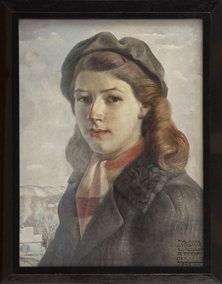 """""""Portret córki"""" autorstwa Ludomira Sleńdzińskiego z 1942 roku. To ostatni zakup do kolekcji białostockiej galerii. Dzieło firmuje Rok Julitty Sleńdzińskiej."""