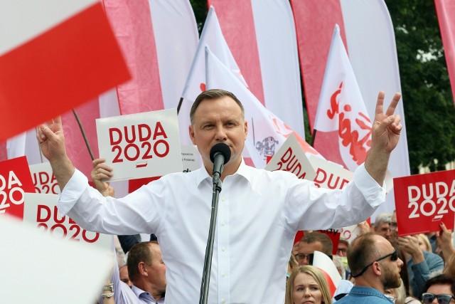 Andrzej Duda podczas wiecu w Lublinie, 15 czerwca 2020 roku