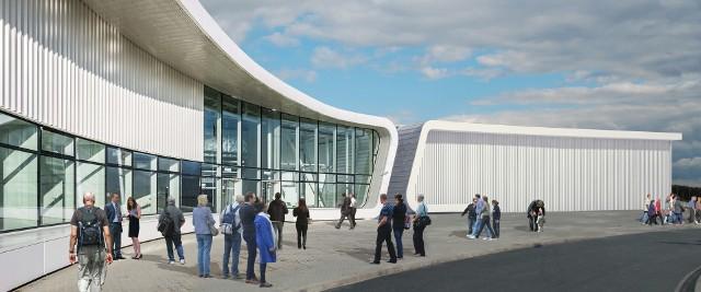 Wizualizacja rozbudowy terminala Portu Lotniczego Lublin
