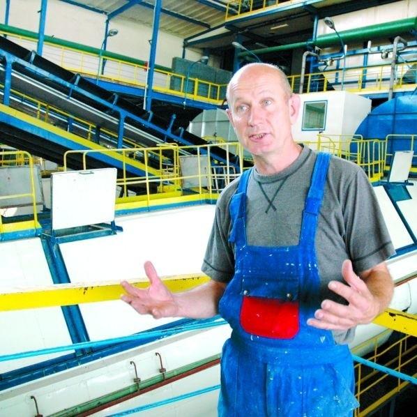 Nie oddamy naszych maszyn - mówi Jarosław Łapiński. Przecież tu mają być produkowane biopaliwa.