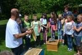Z wizytą w pasiece w Żorach. ZDJĘCIA Laureat plebiscytu DZ pokazał dzieciom życie pszczół