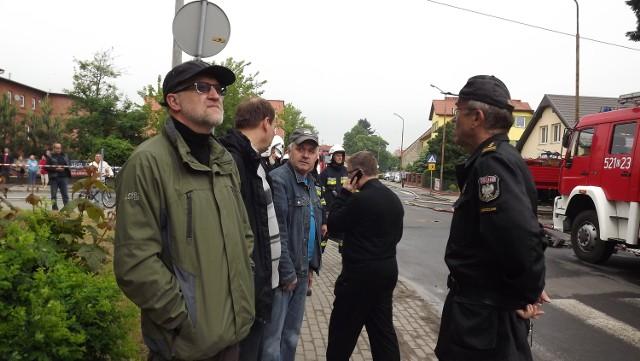 Na miejscu pożaru pojawił się starosta Zdzisław Brezdeń