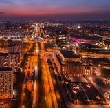 Katowice jak Las Vegas. Zachwycające zdjęcia miast Śląska z drona zrobione nocą. Są oświetlone jak Las Vegas
