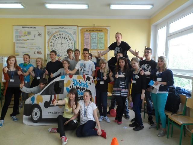 Uczniowie Zespołu Szkół Budowlanych mieli wczoraj dzień z językiem niemieckim.