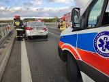 Wypadek na S8. Zderzyły się dwa samochody