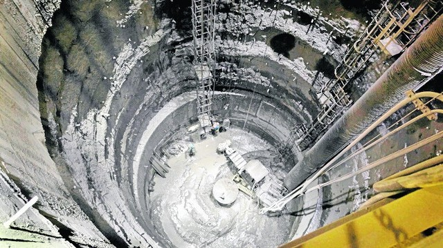 Gigantyczny zbiornik w kopalni Pniówek ma 30 m wysokości
