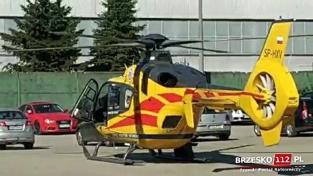 Wypadek w zakładzie przy ul. Browarnej, mężczyzna spadł z rusztowania, jest w stanie ciężkim, 6.09.2021