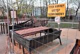 Tajemnicze konstrukcje w parku przy ulicy Ogrodowej w Zielonej Górze. Co tu powstaje? To projekt, który wygrał w budżecie obywatelskim