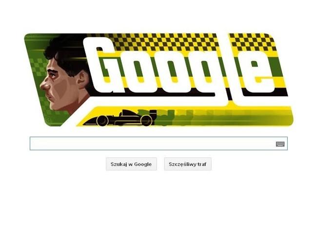 Ayrton Senna na stronie głównej wyszukiwarki google