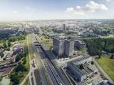 Face2Face Business Campus w budowie. Biurowce w Katowicach powstają przy Chorzowskiej WIZUALIZACJE Echo Investment