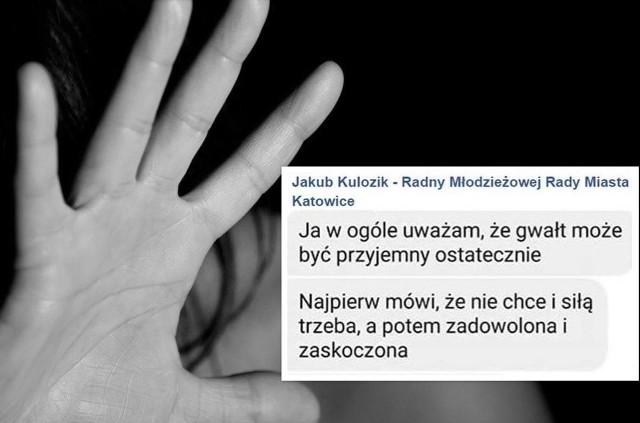 Jakub Kulozik z młodzieżówki Partii Korwin w Katowicach