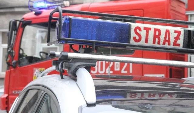 Pożar autobusu w Mysłowicach. Na miejscu działają służby