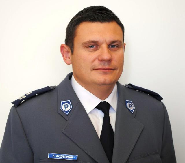 Podinsp. Krzysztof Woźniewski, komendant powiatowy policji w Wysokiem Mazowieckiem