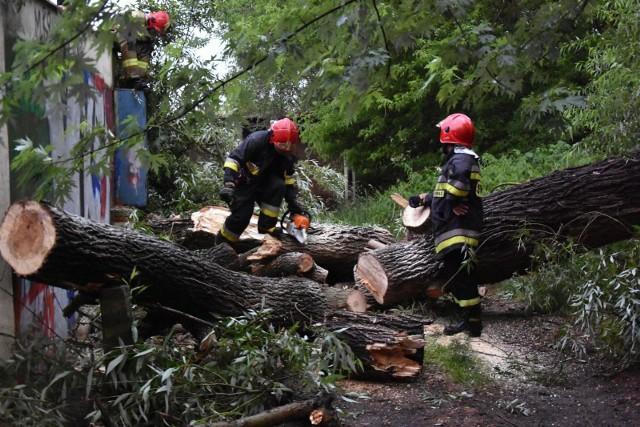 Po gwałtownych burzach w woj. śląskim strażacy interweniowali 138 razy (zdjęcie ilustracyjne)