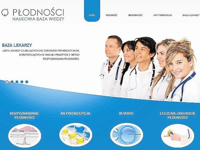 W serwisie można między innymi znaleźć informacje na temat zagrożeń, jakie niosą kuracje antykoncepcyjne i zapładnianie metodą in vitro