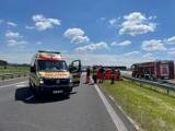 Wypadek na autostradzie pod Włocławkiem. Dwójka dzieci trafiła do szpitala [zdjęcia]