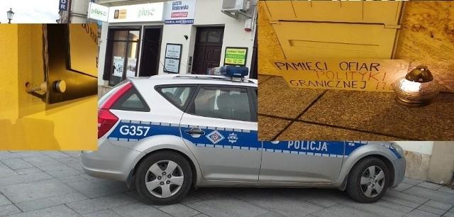 Atak na biuro poselskie PiS w Wadowicach. Policja szuka sprawców