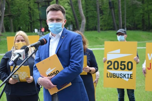 W Gorzowie Szymon Hołownia był m.in. w parku Słowiańskim.