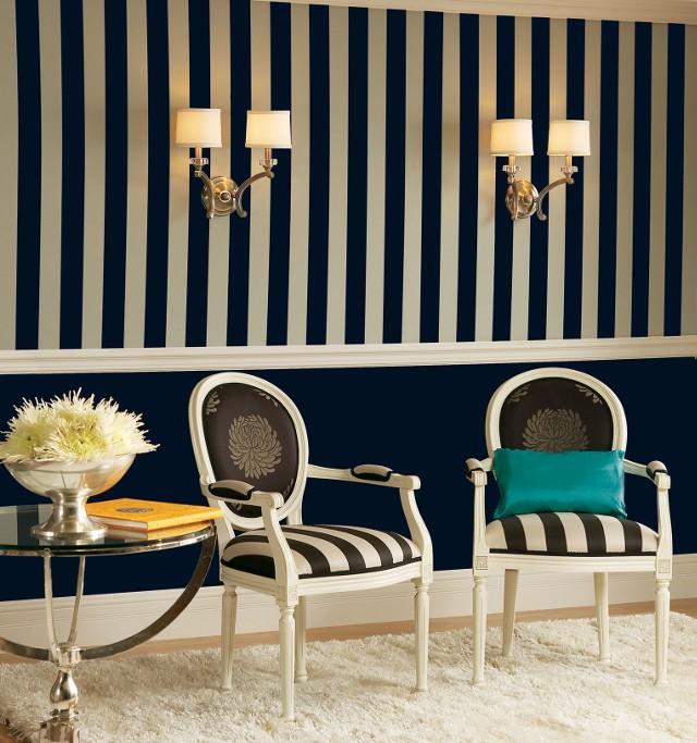 Pasy na ścianiePasy na ścianie: dekoracyjne malowanie
