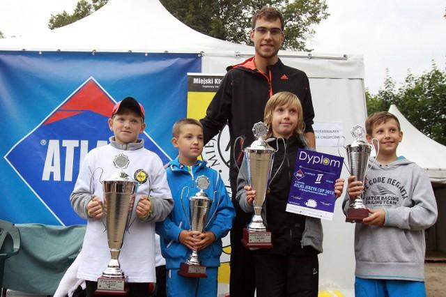 Jerzy Janowicz z laureatami Atlas Jerzy Cup 2013