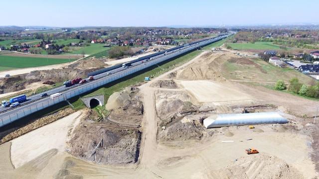 Budowa autostradowego Węzła Niepołomice