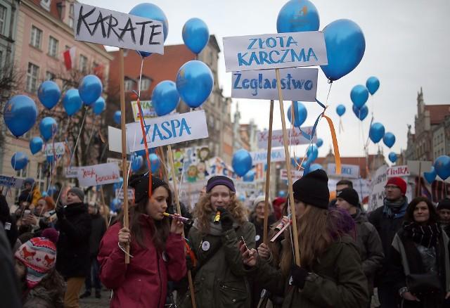 Protest przeciwko likwidacji Pałacu Młodzieży, 31 stycznia 2015 r.