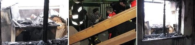 Poszkodowana 75-letnia kobieta przyjmuje tlen (zdjęcie w środku). Zaraz potem wraz z mężem trafiła do szpitala.