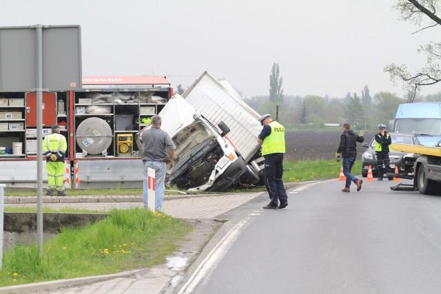 Wypadek koło Kątów Wrocławskich