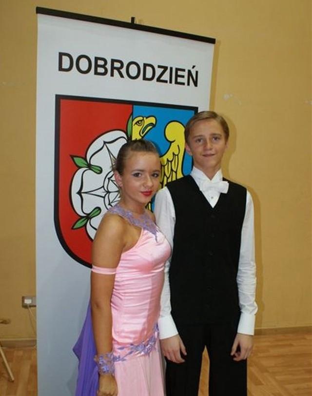 Marcin Karpiński z Dobrodzienia z Anią Mensing z Olesna zajęli 3. miejsce.