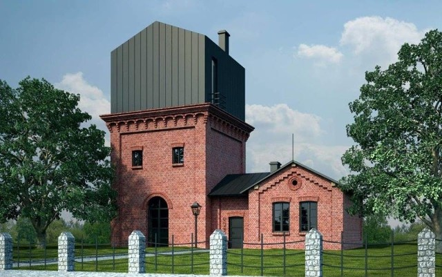 Pomysł na rewitalizację dawnej kolejowej wieży ciśnień w sosnowieckiej dzielnicy Maczki