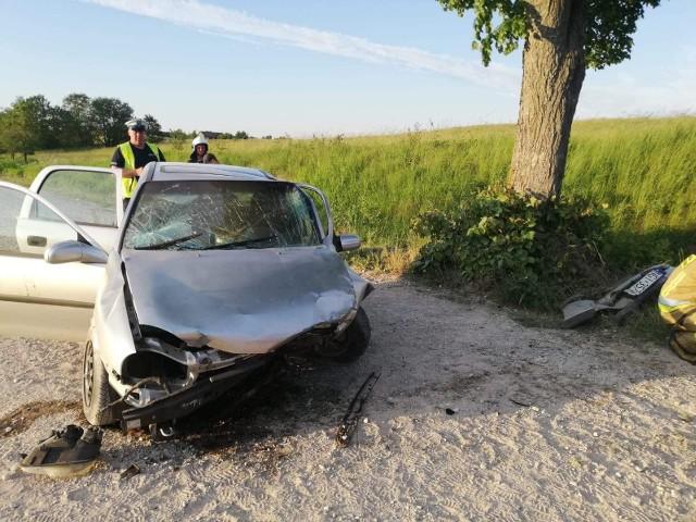 Wypadek na drodze w gminie Stare Juchy