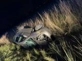 Wypadek w Łyskorni pod Wieluniem. Auto wpadło do rowu. Czy kierowca był pijany!