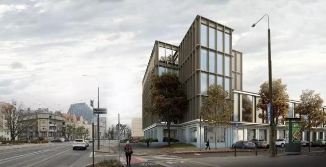 Tak będzie wyglądał nowy biurowiec MTP przy ul. Grunwaldzkiej. Przejdź do kolejnego zdjęcia --->
