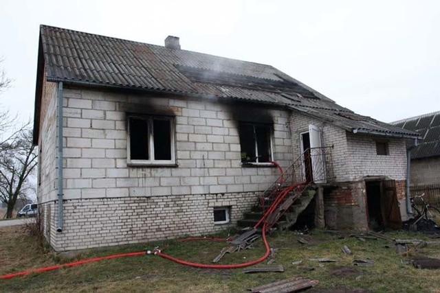 Pożar domu w m. Dubno