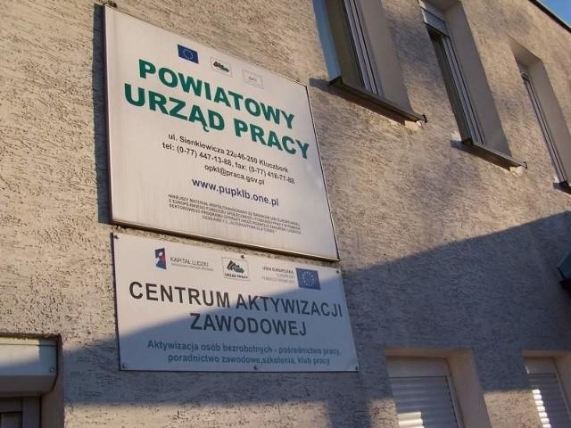 Powiatowy Urząd Pracy w Kluczborku. (fot. md)