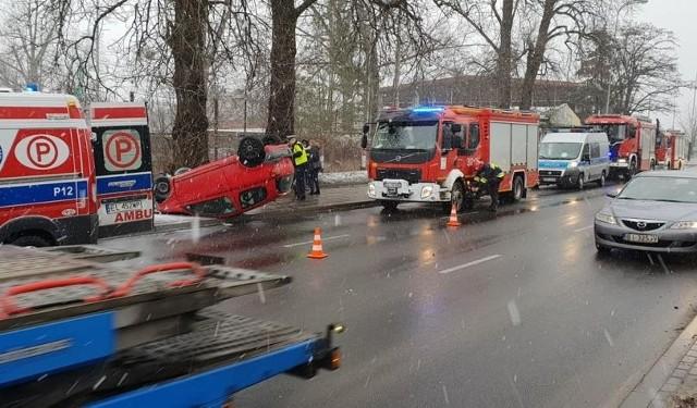 Wypadek na al. Włókniarzy w Łodzi