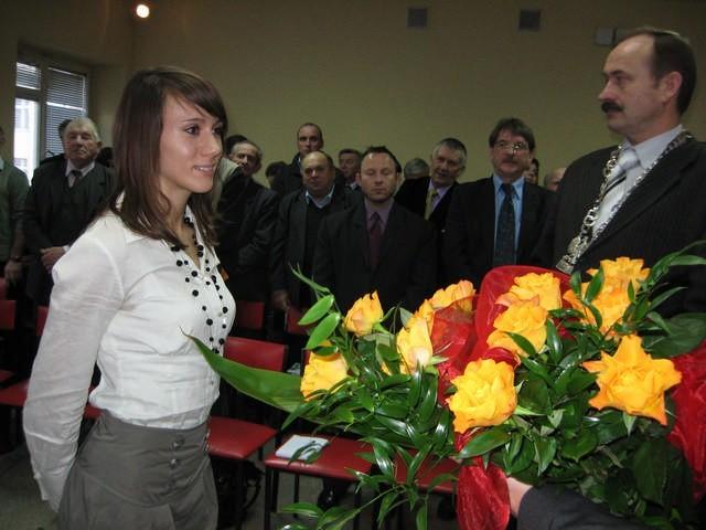 Marika Popowicz odebrała wyróżnienie przyznane przez samorząd Trzemeszna