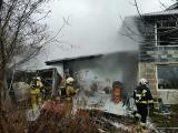 Groźny pożar w Niepołomicach. Strażacy ocalili budynek mieszkalny