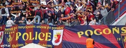 Wśród kibiców Pogoni na meczu ze wrześniu 2007 roku znalazł się policjant.