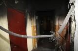 Nocny pożar przy Suwalskiej [zdjęcia]