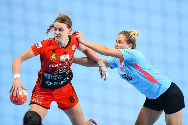 Małgorzata Mączka cały mecz rozegrała korzystając tylko z prawej ręki