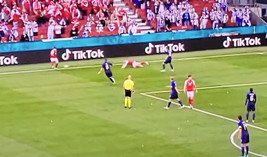 Mecz Euro 2020 Dania - Finlandia przerwany. Christian...