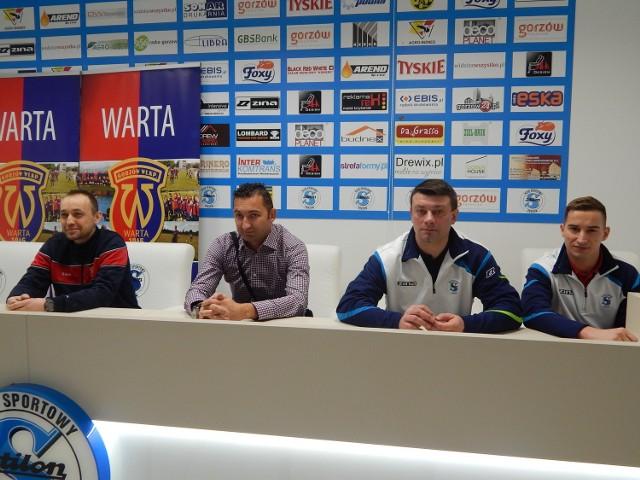Na specjalnie zwołanej konferencji prasowej trener Warty Gorzów Sebastian Puchalski, prezes Warty Zbigniew Pakuła, szkoleniowiec Stilonu Dariusz Borowy oraz zawodnik Stilonu Damian Szałas zapewniali, że gorzowskie derby będą świętem piłki nożnej w mieście.