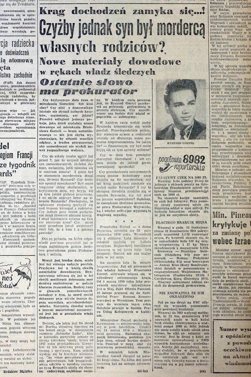 """""""Kurier Lubelski"""" z 1957 r.  pytał: """"Czyżby jednak syn był..."""